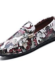 Недорогие -Муж. обувь Полиуретан Весна Мокасины Мокасины и Свитер Кофейный / Зеленый / Вино