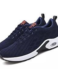 abordables -Hombre Punto / Tela Elástica Verano Confort Zapatillas de Atletismo Running Bloques Gris / Morado / Azul