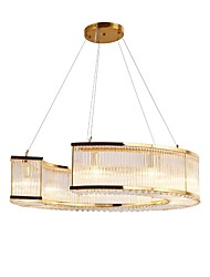 cheap -QIHengZhaoMing 6-Light Crystal Chandelier Ambient Light - Crystal, 110-120V / 220-240V, Warm White, Bulb Included / 10-15㎡