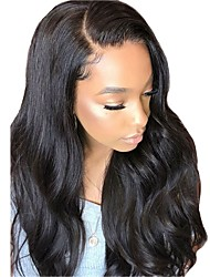 cheap -Synthetic Wig / Synthetic Lace Front Wig Wavy Middle Part Synthetic Hair With Baby Hair / Soft / Heat Resistant Black Wig Women's Long Lace Front / Yes / Natural Hairline / For Black Women
