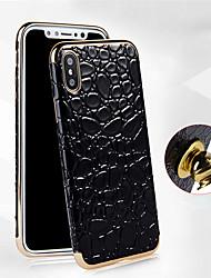 Недорогие -Кейс для Назначение Apple iPhone X / iPhone 8 Pluss / iPhone 8 Покрытие Кейс на заднюю панель Однотонный Мягкий Кожа PU