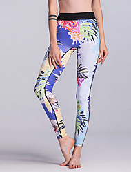 cheap -Women's Sporty / Basic Legging - Floral High Waist
