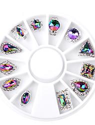 abordables -12 pcs Bijoux à ongles / Bijoux d'art d'ongle Elégant Design Tendance Usage quotidien Outil d'art des ongles / Conseils d'art des ongles