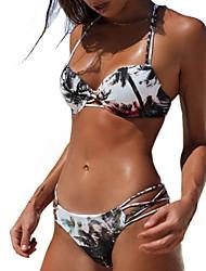 economico -Per donna Bikini - Con stampe, Fantasia floreale Tanga