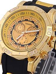 baratos -Homens Relógio Esportivo Bússula PU Banda Analógico Luxo Fashion Preta / Azul Céu - Azul Prata / Black Dourado / Preto