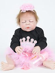 povoljno -FeelWind Autentične bebe Za ženske bebe 22 inch Cijeli silikon tijela - vjeran, Prirodni ton kože Dječjom Djevojčice Poklon