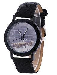 Недорогие -Xu™ Жен. Нарядные часы / Наручные часы Китайский Творчество / Повседневные часы / Крупный циферблат PU Группа На каждый день / Мода Черный / Коричневый / Серый / Один год