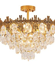 Недорогие -QIHengZhaoMing 9-Light Кристаллы Люстры и лампы Рассеянное освещение Электропокрытие Металл 110-120Вольт / 220-240Вольт Теплый белый Лампочки включены