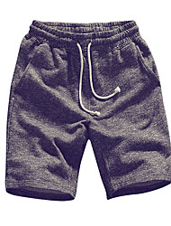 billige -Herre Plusstørrelser Bomuld Løstsiddende Chinos / Shorts Bukser Ensfarvet