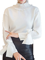 cheap -Women's Blouse - Solid Colored Turtleneck