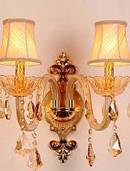 cheap -Crystal Vintage Wall Lamps & Sconces Living Room / Hallway Metal Wall Light 220-240V
