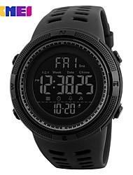 Недорогие -SKMEI Муж. Жен. Спортивные часы электронные часы Цифровой силиконовый Черный 30 m Защита от влаги Календарь Секундомер Цифровой На каждый день - Черный и золотой Синий Золотистый / Красный