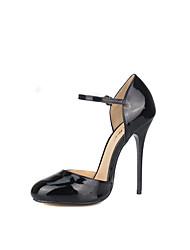Недорогие -Жен. Обувь Полиуретан Наступила зима Туфли лодочки Обувь на каблуках На шпильке Круглый носок Черный / Свадьба / Для вечеринки / ужина