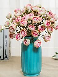 Недорогие -Искусственные Цветы 2 Филиал Классический / Односпальный комплект (Ш 150 x Д 200 см) Деревня / Простой стиль Хризантема / Вечные цветы Букеты на стол