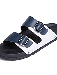 cheap -Men's Shoes Rubber Summer Comfort Slippers & Flip-Flops Black / Black / White / White / Blue