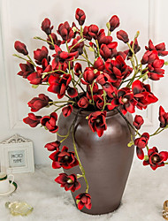 baratos -Flores artificiais 1 Ramo Clássico / Solteiro (L150 cm x C200 cm) Estilo simples / Modern Pétalas / Flores eternas Flor de Mesa