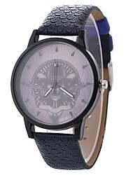 baratos -Mulheres Relógio Elegante / Relógio de Pulso Chinês Relógio Casual / Adorável / Caveira PU / Tecido Banda Casual / Fashion Preta / Azul / Marrom / Mostrador Grande / Um ano