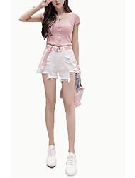 povoljno -ženske tankim trapericama - čvrste boje