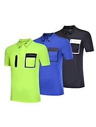 baratos -BARBOK Homens Camiseta Segunda Pele - Preto, Verde, Azul Esportes Sólido, Clássico Camiseta / Pulôver / Blusas Ioga, Exercício e Atividade Física, Multi-Esporte Manga Curta Roupas Esportivas Leve