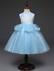Недорогие -Дети Девочки Цветочный принт Без рукавов Платье