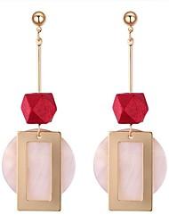 cheap -Women's Drop Earrings - Stylish Coffee / Red / Green For Date / Birthday
