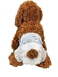 Недорогие -Собаки Чистка Ткань Наборы для шерсти Салфетки Компактность Сохраняет тепло Складной Белый