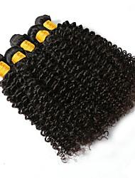 cheap -Brazilian Hair Curly Natural Color Hair Weaves / Human Hair Extensions 6 Bundles 8-28 inch Human Hair Weaves Capless Fashionable Design / Best Quality / For Black Women Natural Black Human Hair