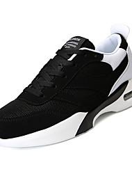 povoljno -Muškarci Cipele Platno / PU Ljeto / Jesen Udobne cipele Atletičarke tenisice Trčanje / Hodanje Crn / Crno-bijeli / Crno / crvena