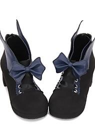 abordables -Doux / Lolita Classique / Traditionnelle Princesse Hauteur de semelle compensée Chaussures Couleur Pleine 5 cm CM Noir / Bleu Encre / Marron Pour PU