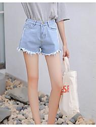 baratos -Mulheres Punk & Góticas Shorts Calças - Sólido Preto & Branco