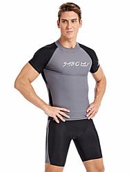 abordables -SABOLAY Homme Combinaison Fine Séchage rapide, Respirable Polyester / Spandex / Chinlon Manches Courtes Maillots de Bain Tenues de plage Maillots de Bain Natation / Activités Extérieures / Sports