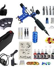 Недорогие -BaseKey Татуировочная машина Набор для начинающих - 1 pcs татуировки машины с 7 x 15 ml татуировки чернила, Сборное, новый, Регулирование скорости ветра Алюминиевый сплав Зарядное устройство