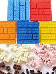 Недорогие -7 решетчатый кирпич квадратный ледяной пресс шоколадный торт желе формы строительные блоки поддон для льда