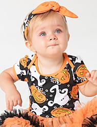お買い得  -赤ちゃん 女の子 カラーブロック / パッチワーク 半袖 ドレス