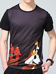 povoljno -Majica s rukavima Muškarci Izlasci / Vikend Geometrijski oblici