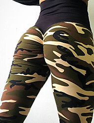 cheap -Women's Daily Sporty Legging - Camouflage, Print Mid Waist / Summer / Sporty Look