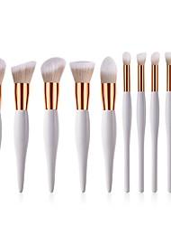 baratos -Conjunto - 10 Pincéis de maquiagem Profissional Conjuntos de pincel / Pincel para Blush / Pincel para Sombra Fibra de Nailom Macio / Cobertura Total De madeira / bambu