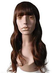 cheap -Synthetic Wig / Hair Weft with Closure Curly Layered Haircut Synthetic Hair Party / Women / Synthetic Dark Brown Wig Women's Long Capless / Natural Hairline