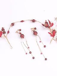 cheap -Alloy Headbands with Acrylic / Flower 1 Pair Wedding / Birthday Headpiece