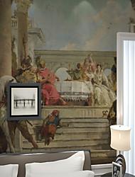 baratos -Pintados à mão ocidental europeu retro estilo romano mapa personalizado revestimento de parede 3d mural papel de parede adequado para cozinha quarto café