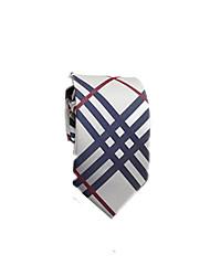 economico -Per uomo Da ufficio / Essenziale Cravatta - Cotone / Poliestere A strisce / Monocolore / Per tutte le stagioni