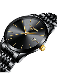 cheap -Men's Wrist Watch Japanese New Design / Chronograph / Creative Stainless Steel Band Fashion / Elegant Black / Silver / Gold