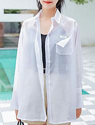 cheap -women's shirt - solid colored shirt collar