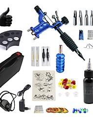 Недорогие -BaseKey Татуировочная машина Набор для начинающих - 1 pcs татуировки машины с 1 x 30 ml татуировки чернила, Бесшумный, С возможностью регулировки, Быстрая зарядка Алюминиевый сплав Плагин мощности