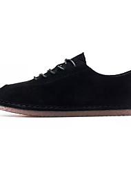 baratos -Homens Sapatos de Condução Cashmere Outono Tênis Preto / Amarelo / Khaki