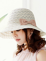cheap -Women's Holiday Sun Hat - Solid Colored Cut Out