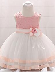 cheap -Baby Girls' Patchwork Sleeveless Dress