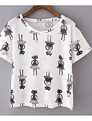preiswerte -Damen Tier - Grundlegend T-shirt Druck