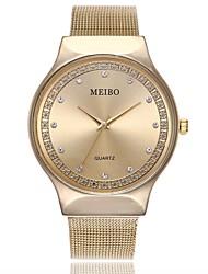 baratos -Homens Mulheres senhoras Relógio Elegante Relógio de Pulso Quartzo Prata / Dourada / Ouro Rose Relógio Casual imitação de diamante Analógico Casual Fashion - Dourado Prata Ouro Rose Um ano Ciclo de