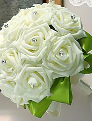 baratos -Flores artificiais 1 Ramo Clássico / Solteiro (L150 cm x C200 cm) Casamento / buquês de Noiva Rosas Flor de Mesa